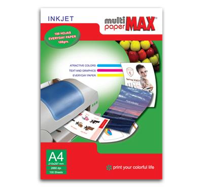 Papel recubierto para impresoras inkjet