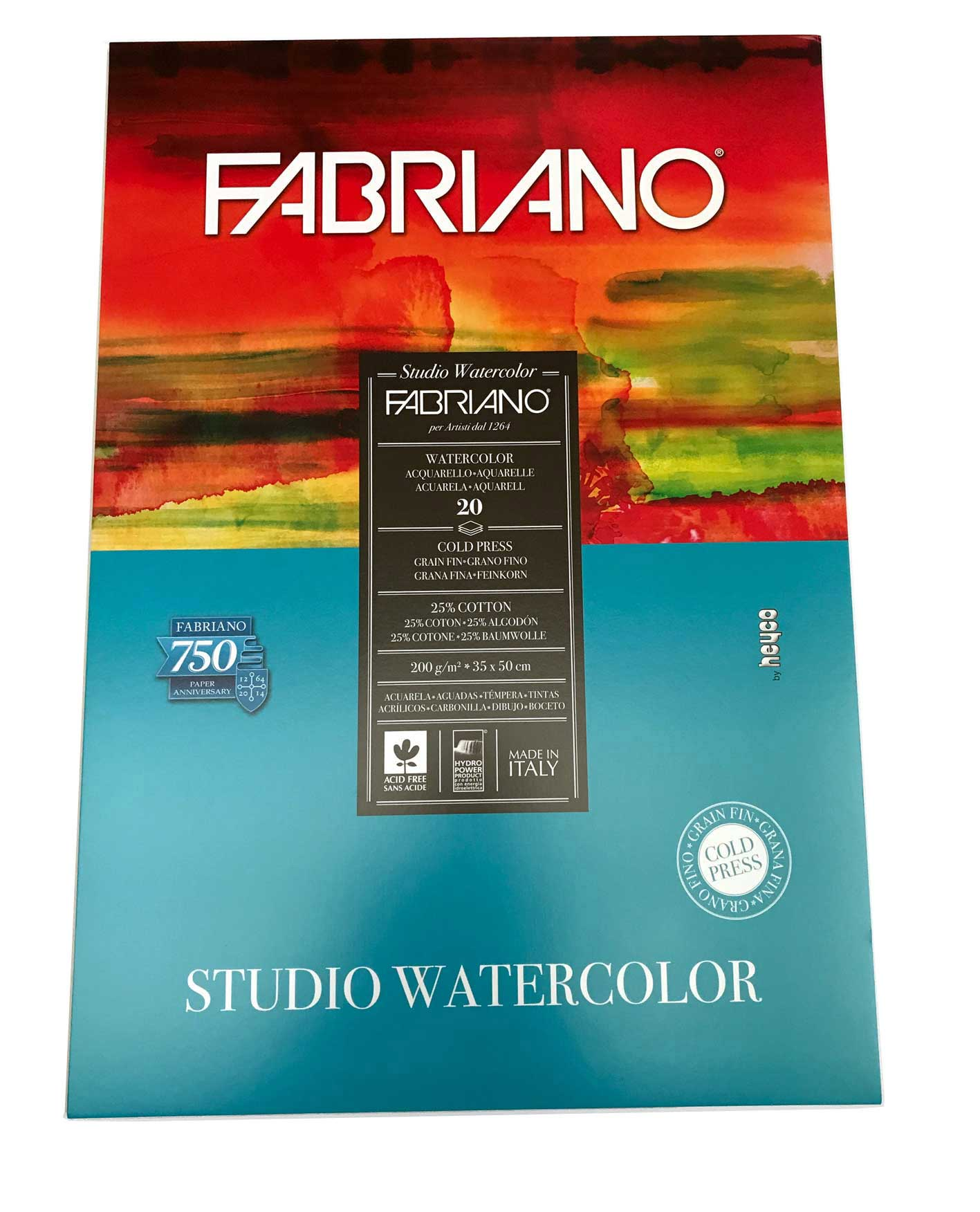 Block Papel Watercolor 200g